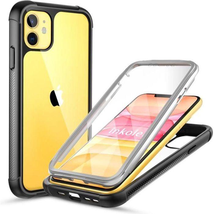 Inkolelo Coque iPhone 11 Pro Max (6.5'') 360 degrés Protection IntegraleAnti RayureAntichocHousse De Protection Avant et arrière