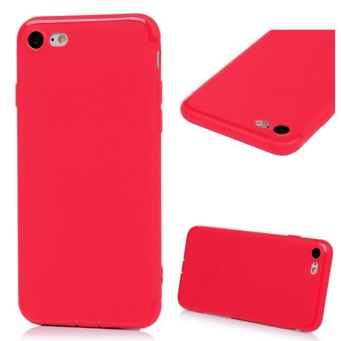 coque iphone 8 silicone souple rouge