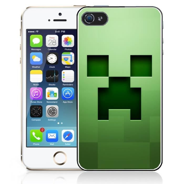 coque iphone 5 5s minecraft creeper