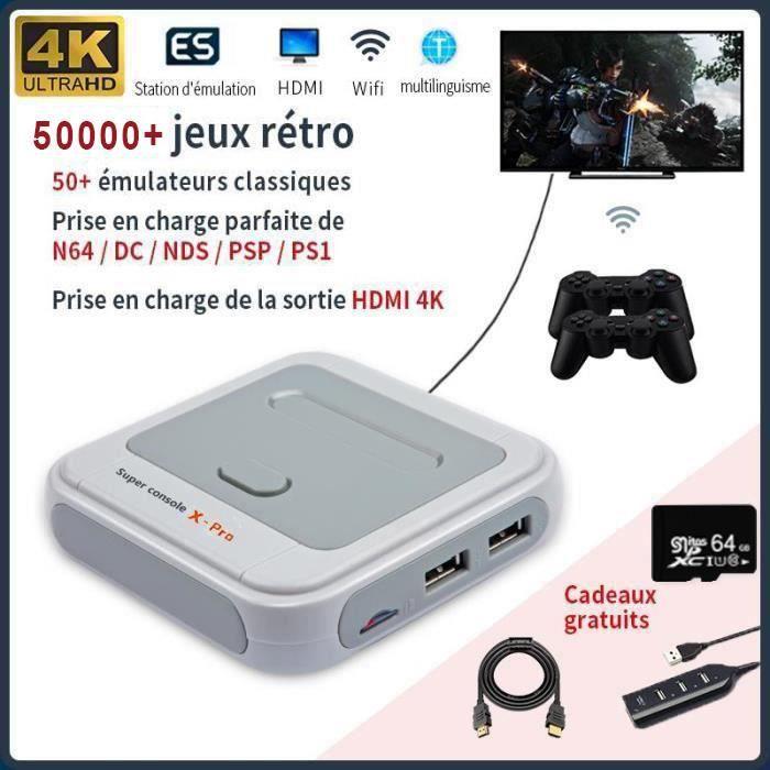 Mini Console De Jeu Pro 34000 Jeux Avec Carte Sd 64g Et 2 Controleurs Sans Fil 1 Telecommande 4k Hdmi Lan Wifi Retro Pour Psp N64 Achat Vente Console Retro Mini Console De Jeu Retro C