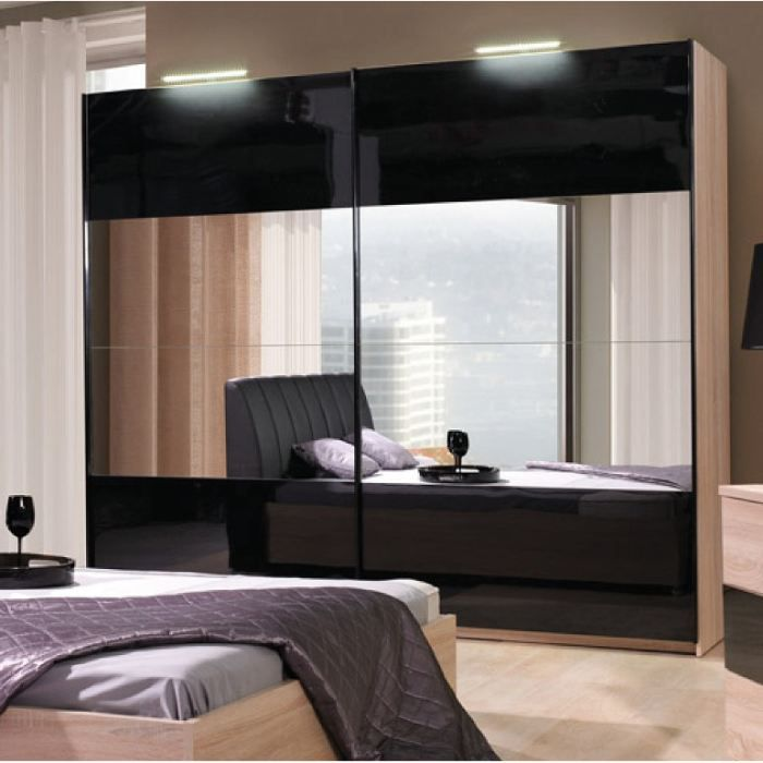 armoire dressing dali naturel 2m achat vente armoire. Black Bedroom Furniture Sets. Home Design Ideas