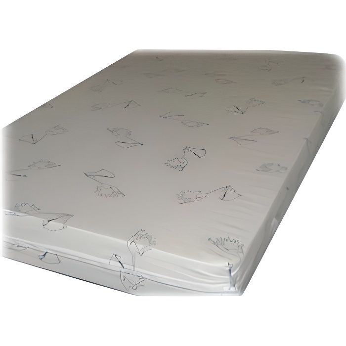 matelas lit d houssable 70x140 blanc achat vente. Black Bedroom Furniture Sets. Home Design Ideas