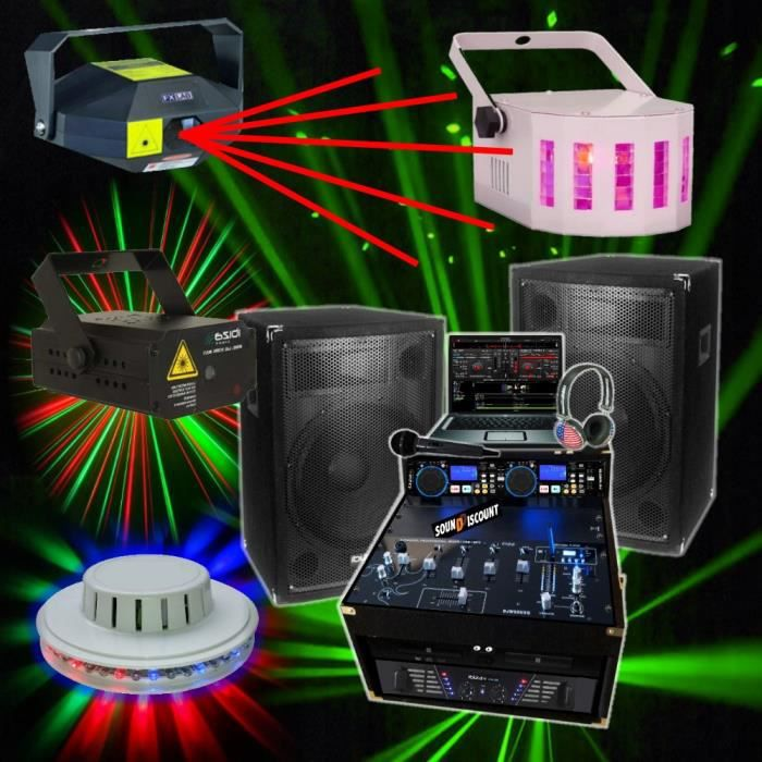 jeux de lumiere dj laser achat vente jeux de lumiere dj laser pas cher cdiscount. Black Bedroom Furniture Sets. Home Design Ideas