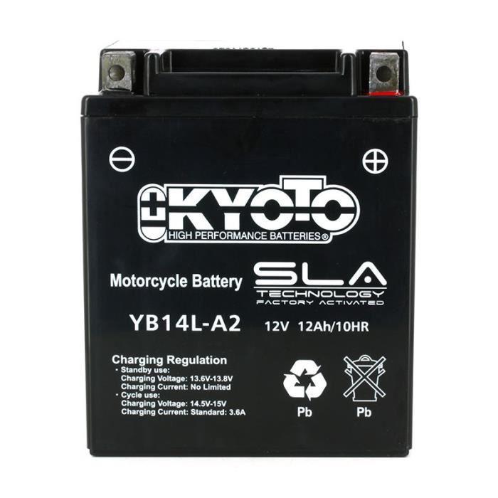 BATTERIE VÉHICULE KYOTO-512142 - YB14L-A2 SLA AGM Batterie