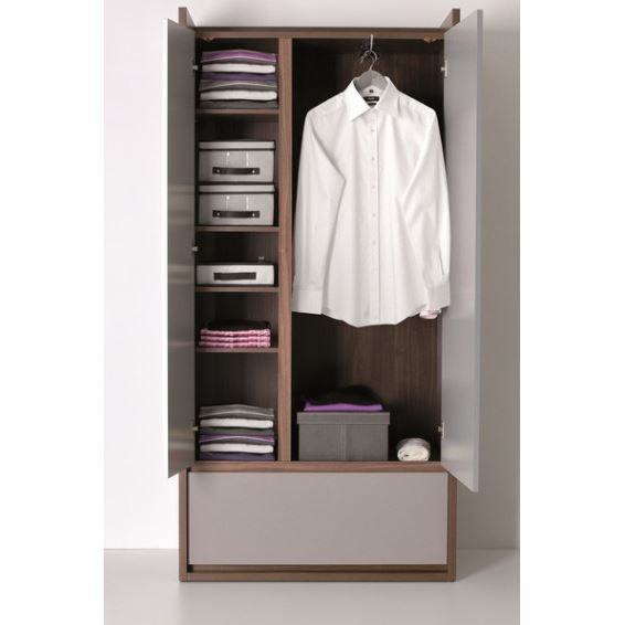 armoire dressing 2 portes milazzo achat vente armoire. Black Bedroom Furniture Sets. Home Design Ideas