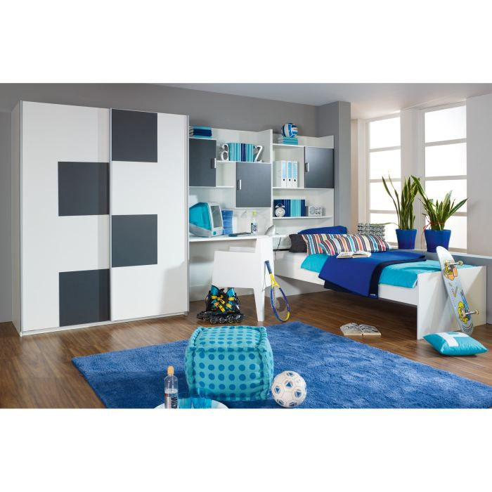 chambre enfant compl te andy avec tiroir lit achat. Black Bedroom Furniture Sets. Home Design Ideas