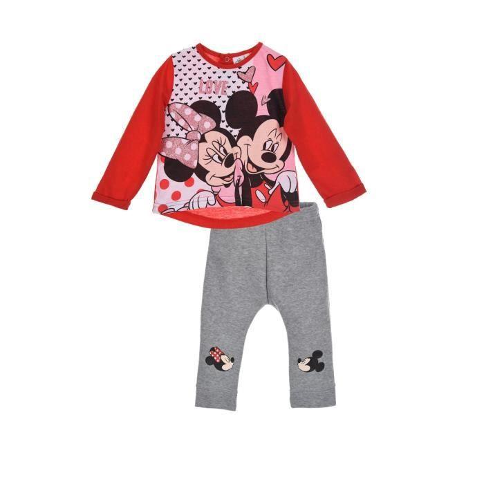 Ensemble de vêtements Ensemble bébé fille MINNIE disney baby rouge