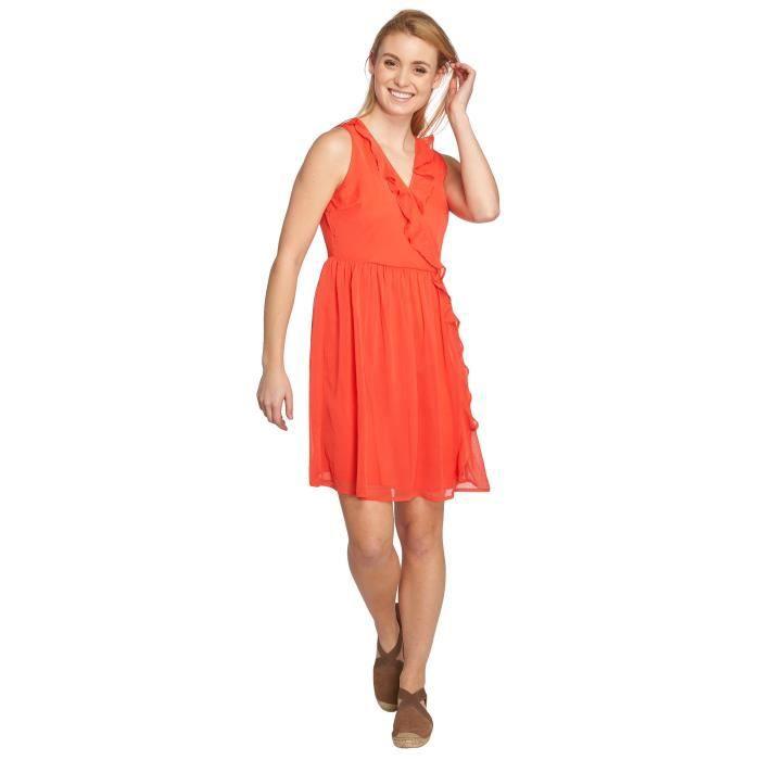 Vero Moda Femme Robes Robe Vmkenzie Rouge Achat Vente Robe Cdiscount