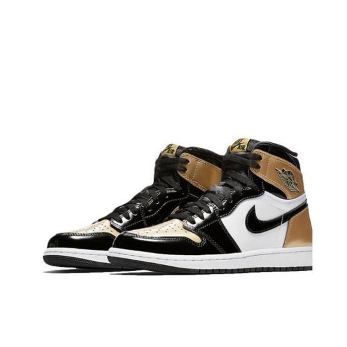 Basket Nike Air Jordan 1 Retro High NRG Patent Gold Toe AJ 1 Air ...