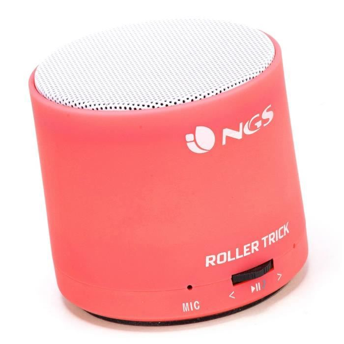 mini enceinte bluetooth ngs rollertrick red prix pas cher cdiscount. Black Bedroom Furniture Sets. Home Design Ideas