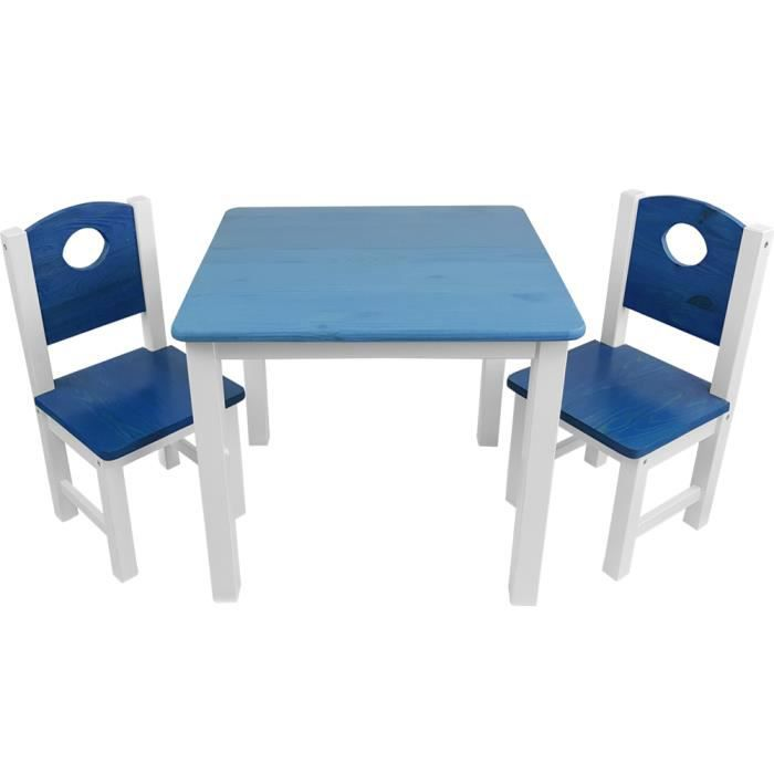 Children/'s Wooden Table avec 2 chaises enfants jouer contre de l/'enfant de surface d/'assise NEUF