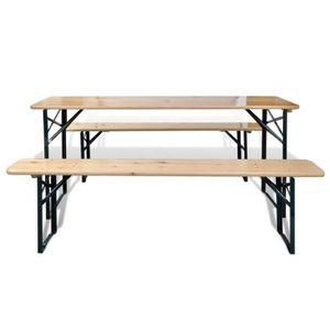 Table de jardin en bois avec banc - Achat / Vente Table de ...