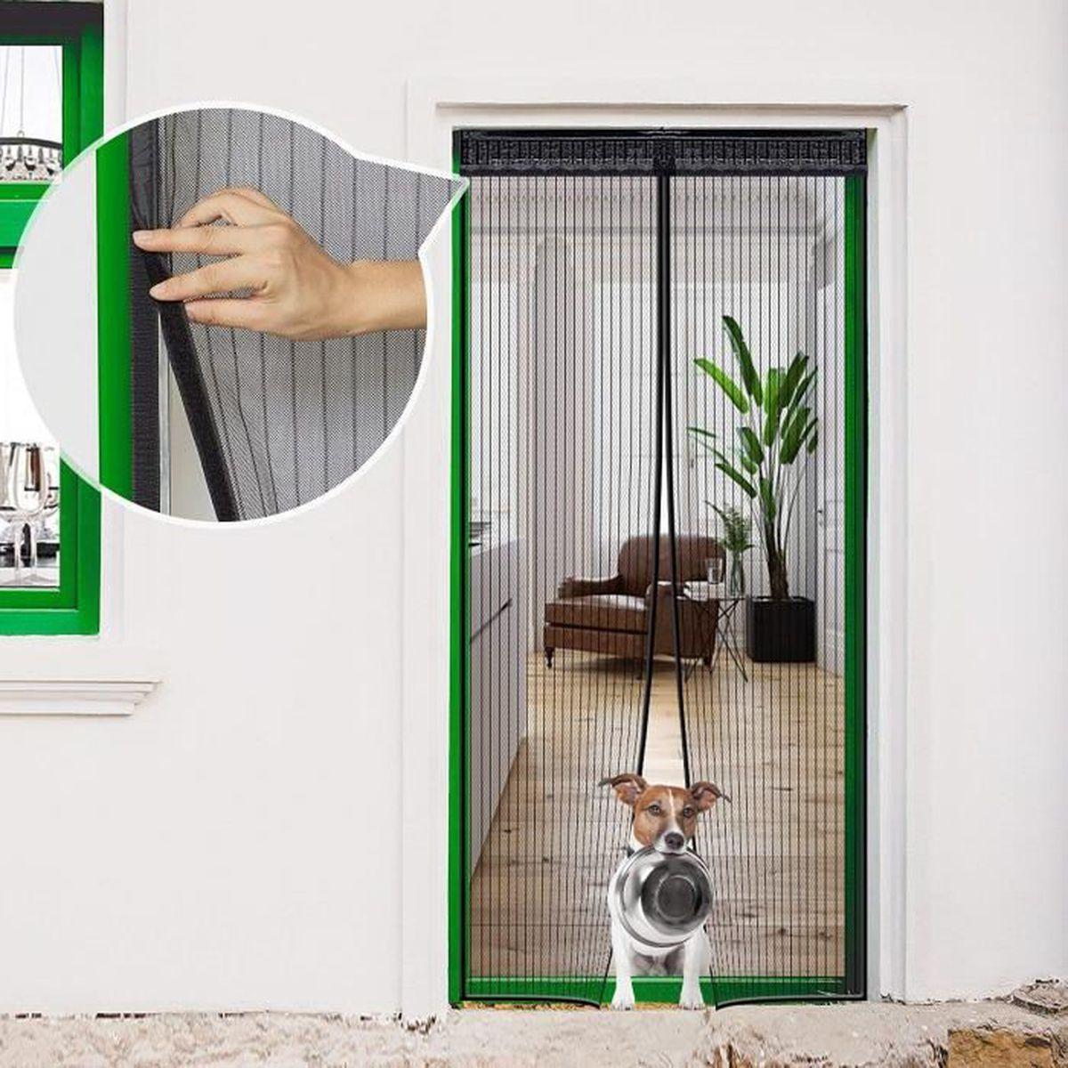 Porte Entr/ée Int/érieur pour Portes Patio Magn/étique Moustiquaire/Porte Noir Couloirs anti Insecte Mouche Facile /à Installer Sans Percer