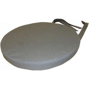 COUSSIN DE CHAISE  Galette de chaise ronde 40x4 cm GRIS FONCE