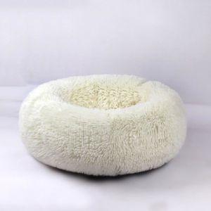 CORBEILLE - COUSSIN Doux Lit Couchage 40x26cm Blanc Chaud Rond Chat Hi