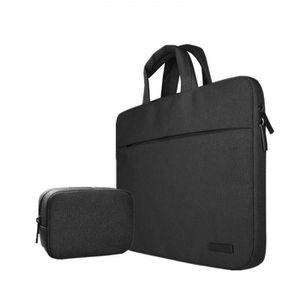 SACOCHE INFORMATIQUE Version Noir avec Petit bag - 12 inch -