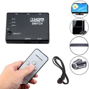REPARTITEUR TV HDMI 3 Entrée 1 répartiteur de sortie Hub Commutat
