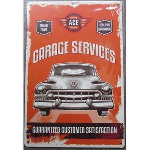michelin man Pneu Services voiture vintage garage m/étal PANNEAU MURAL m/étalique 30 x 20 cm