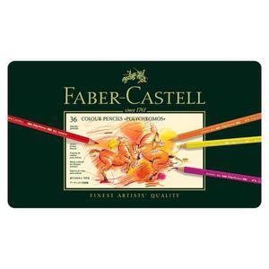 CRAYON GRAPHITE Faber-Castell 110036 Crayon Polychromos boîte méta