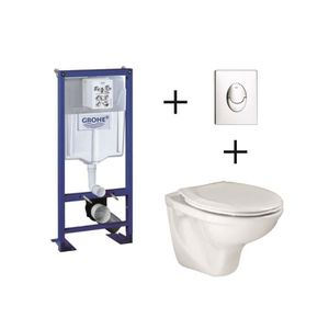 WC - TOILETTES Pack complet wc suspendu  GROHE Bâti-support 113 c