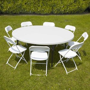 Table ronde 8 personnes achat vente table ronde 8 for Diametre table ronde 4 personnes