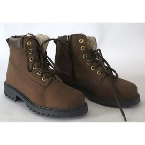 CUIR 32 NEUVES GARCON MARRON BOOTS T BOTTINES EnPwTWqFxS