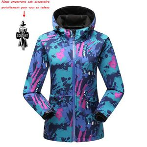 BLOUSON DE SKI Blouson de ski Femme Veste de Ski avec Polaire Cou