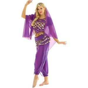 JUPETTE DE DANSE 4Pcs Ensemble Costume Danse Orientale Tenue Danse
