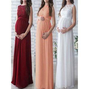ROBE Robe femmes enceintes dentelle longue maxi robe ro