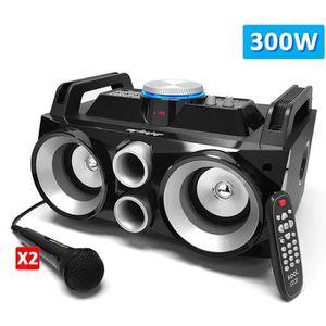 PACK SONO Enceinte karaoke sono mobile 300W - USB-SD-BLUETOO