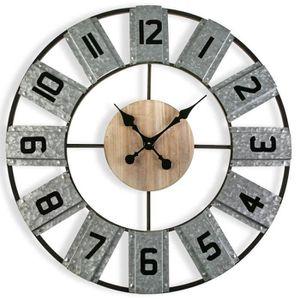 HORLOGE - PENDULE Horloge murale industrielle Leslie diamétre 80 cm