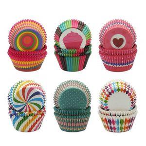100 PCS Papier Gâteau Forme Cupcake Pâtisserie Muffin Box Cup Case Decor Cupcake Outils