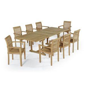 SALON DE JARDIN  Salon de jardin en teck Ecograde Kingston, table e