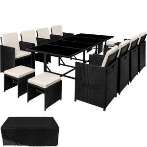 SALON DE JARDIN  TECTAKE Salon de jardin PALMA - 12 places - Table,