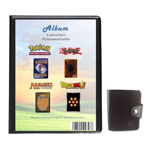 CARTE A COLLECTIONNER Album Classeur A4 Pokemon Yugioh Magic avec Couver