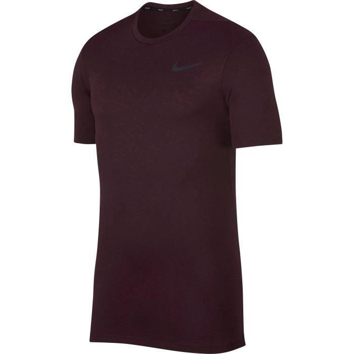 NIKE T-shirt Hpr Dry - Homme - Vert olive et kaki