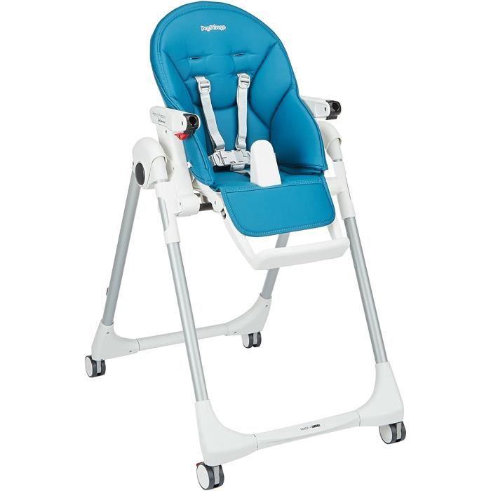 Peg Perego Chaise-haute pour bébé Follow Me pétrole