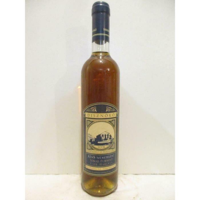 50 cl disznoko late harvest premier cru classé fût de chêne furmint liquoreux 2004 - tokaji Hongrie
