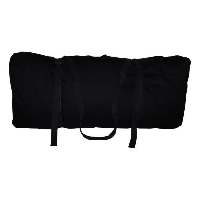Zabuton Confort Plus 80 x 80 x 12 cm Noir