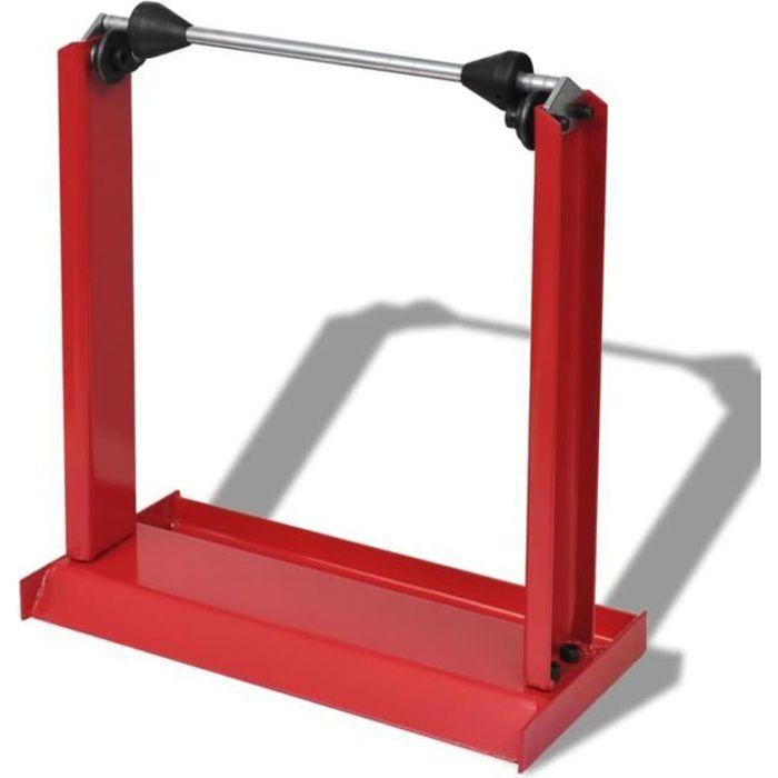 EUR-6835Super Equilibreuse pour Roue de Moto Professionnelle Rouge Outil de Garage Rouge