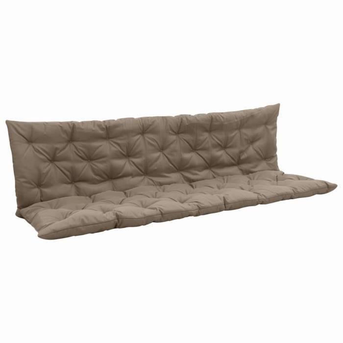 Luxueux Magnifique-Coussin pour balancelle Coussin de Banquette- Coussin D'extérieur - Taupe 180 cm Tissu