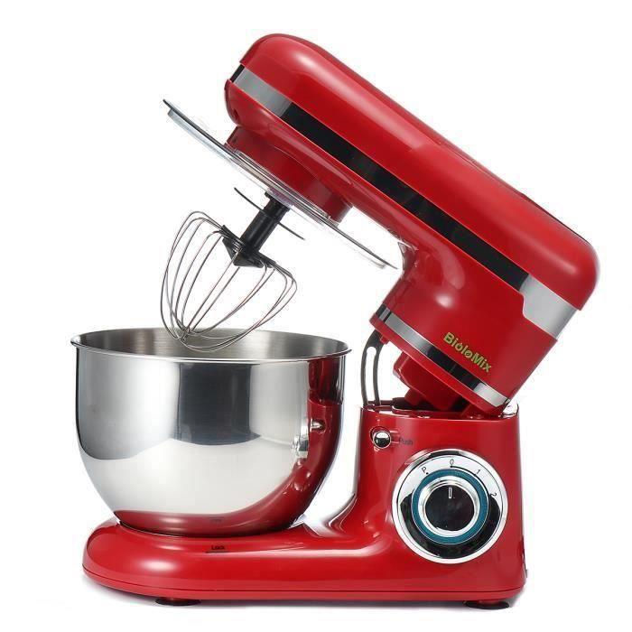 TEMPSA Robot de Cuisine Multifonction Batteur Pâtissier étagère Mélangeur Gâteau Pâte Pétrissage Machine 4L 1200 W Prise EU