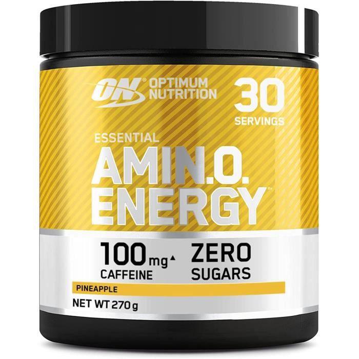 Amino EnergyPre workout en PoudreEnergy Drink avec Bêta-AlanineVitamine CCaféine et Acides AminésSaveur Orange30 Portions270gl'Emb