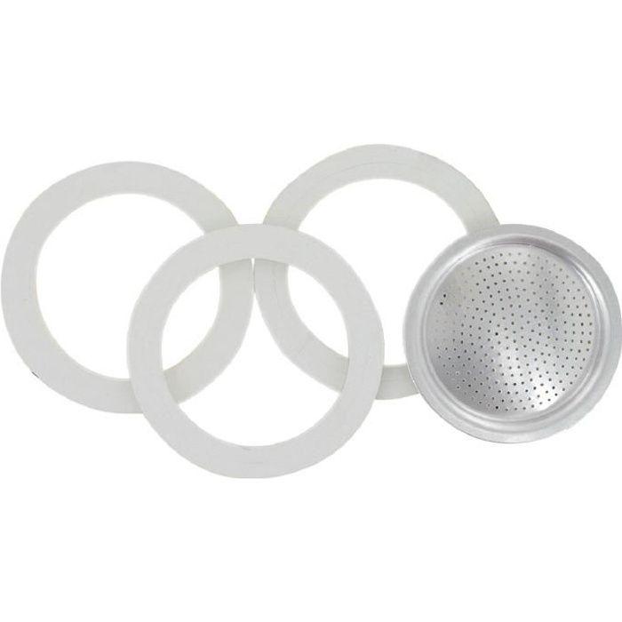 Joint Ø70mm + filtre 6 tasses Pour cafetière Moka