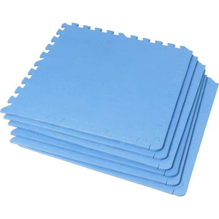 6 tapis de protection en mousse - épaisseur 1,2cm - 12 pièces d'about - Bleu