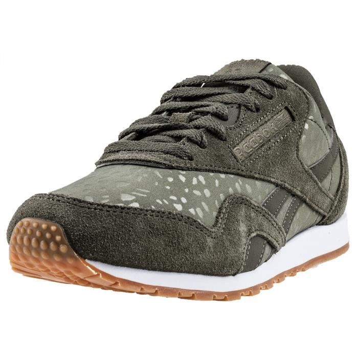 Reebok Classic Nylon Slim Lux Femmes Baskets vert - 7 UK