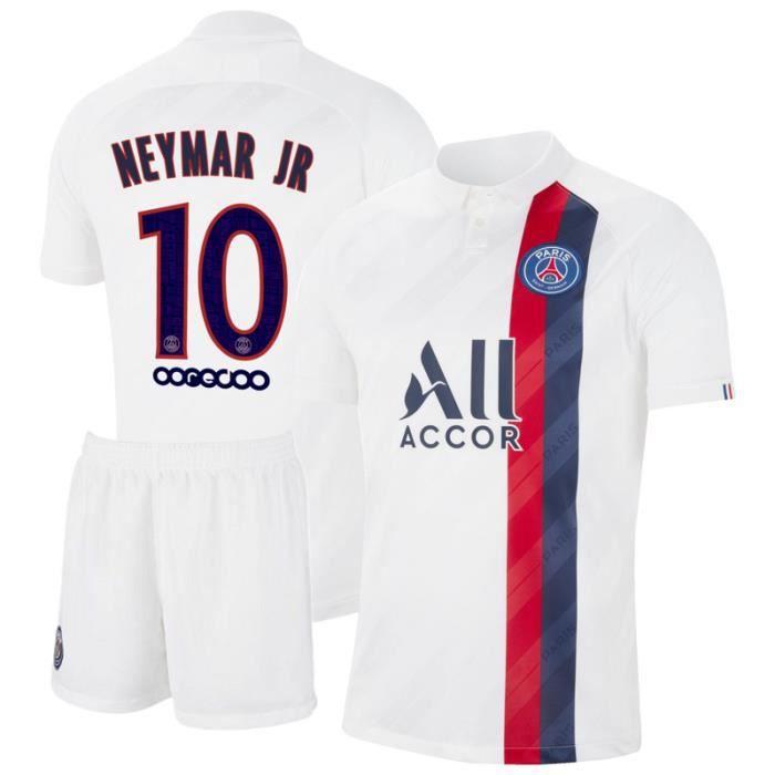 PSG Maillot de Foot Short Football Soccer NO.10 Neymar JR 2019 2020 Pas Cher pour Homme