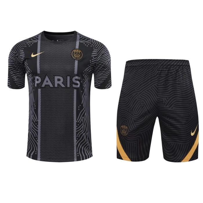 Maillot PSG Football Training Hauts + Short Adulte Kit.