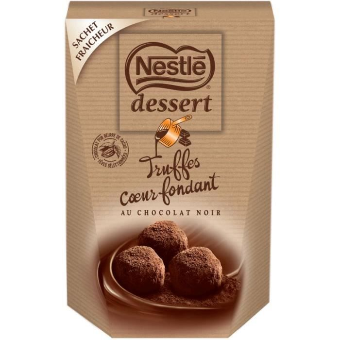 Nestle Dessert Truffes cœur fondant -Chocolat noir 250g