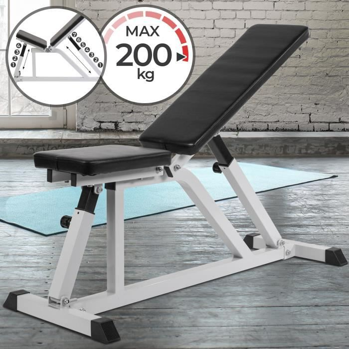 Banc de musculation inclinaisons multiples (HNT...